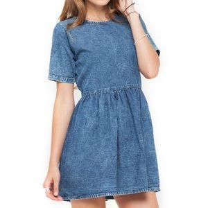 Motel Penny Babydoll Denim Dress